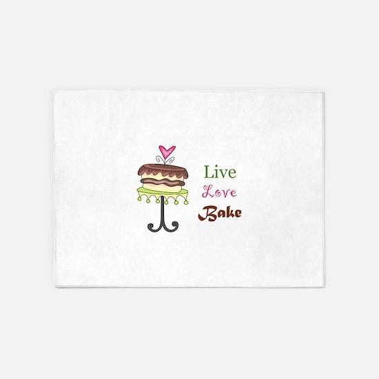 LIVE LOVE BAKE 5'x7'Area Rug