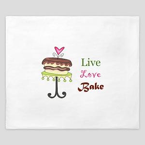 LIVE LOVE BAKE King Duvet