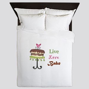 LIVE LOVE BAKE Queen Duvet