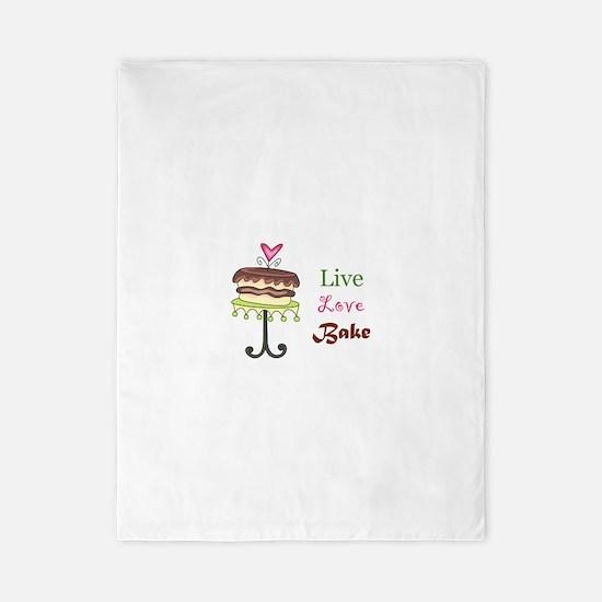 LIVE LOVE BAKE Twin Duvet