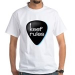 Keef Rules Guitar Pick - White T-shirt