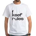 Keef Rules - White T-shirt