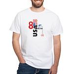8 in a Row White T-shirt