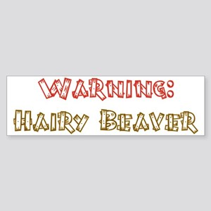 Warning hairy beaver Sticker (Bumper)