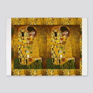 Klimt Kiss 2 5'x7'Area Rug