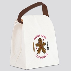 BAKERS MAKE LIFE SWEETER Canvas Lunch Bag