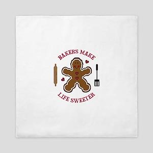 BAKERS MAKE LIFE SWEETER Queen Duvet
