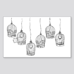 Birdcages Sticker (Rectangle)