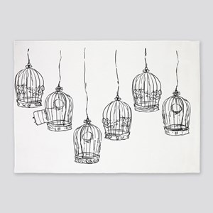 Birdcages 5'x7'Area Rug