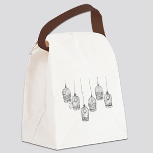 Birdcages Canvas Lunch Bag