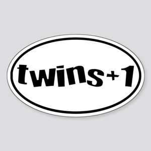 twins+1 Oval Sticker