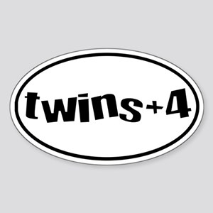 twins+4 Oval Sticker