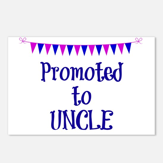 Promoted to Uncle, celebr Postcards (Package of 8)