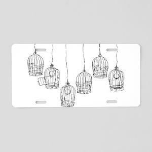 Birdcages Aluminum License Plate