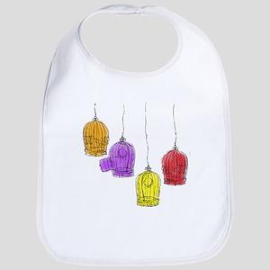 Colorful Birdcages 2 Bib