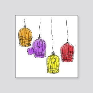 Colorful Birdcages 2 Sticker