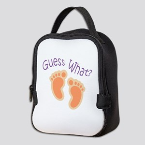 GUESS WHAT Neoprene Lunch Bag