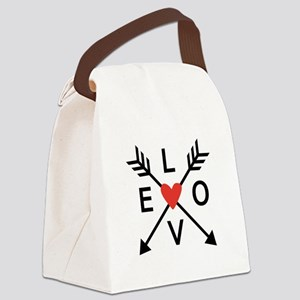 Arrows with heart and love Canvas Lunch Bag