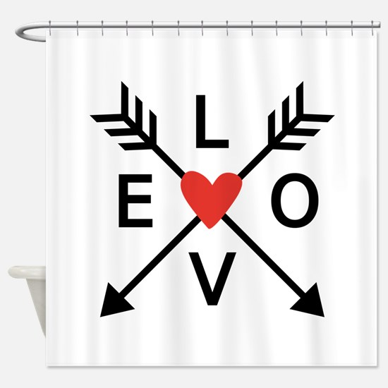 Arrows with heart and love Shower Curtain