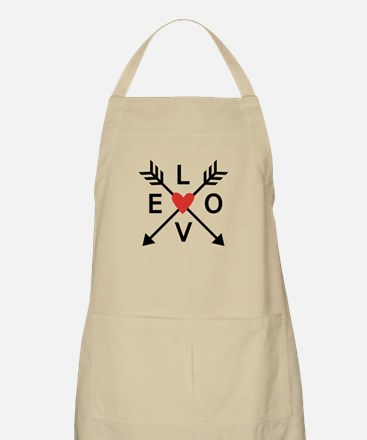 Arrows with heart and love Apron