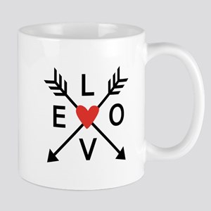 Arrows with heart and love Mugs