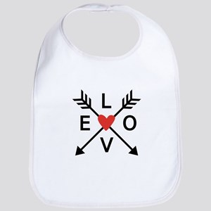 Arrows with heart and love Bib