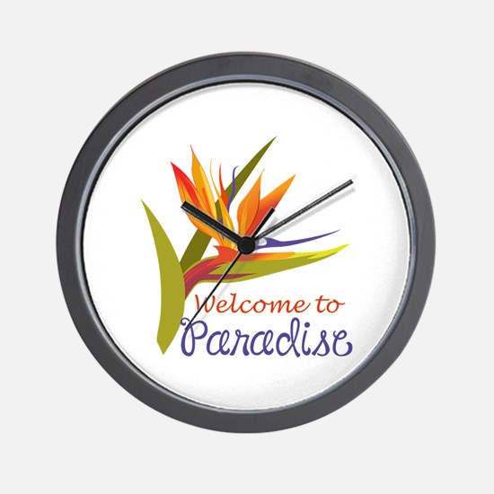WELCOME TO PARADISE Wall Clock