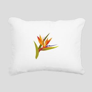 BIRD OF PARADISE Rectangular Canvas Pillow
