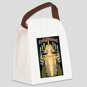 Enlightened, Vintage Art Deco Canvas Lunch Bag