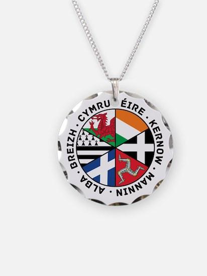 Celtic Nations Flags Black Necklace