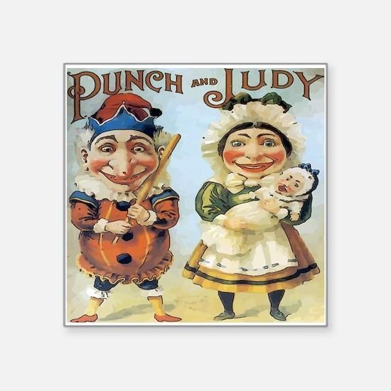 """Cute Punch Square Sticker 3"""" x 3"""""""