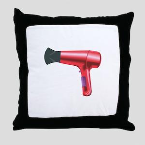 BLOW DRYER Throw Pillow