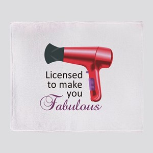 Licensed To Make You Fabulous Throw Blanket
