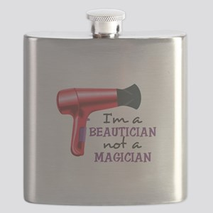 I'm A Beautician Not A Magician Flask