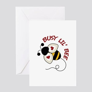 Busy Lil' Bee Greeting Cards