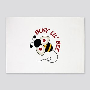 Busy Lil' Bee 5'x7'Area Rug