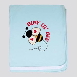 Busy Lil' Bee baby blanket