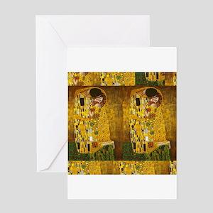 Klimt Kiss 3 Greeting Cards