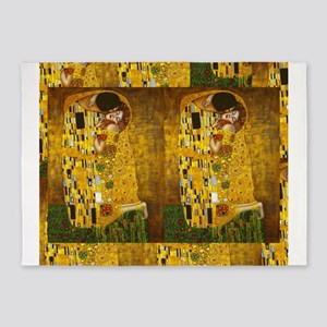 Klimt Kiss 3 5'x7'Area Rug