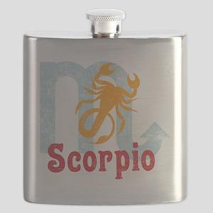 Scorpio Zodiac Vintage Flask