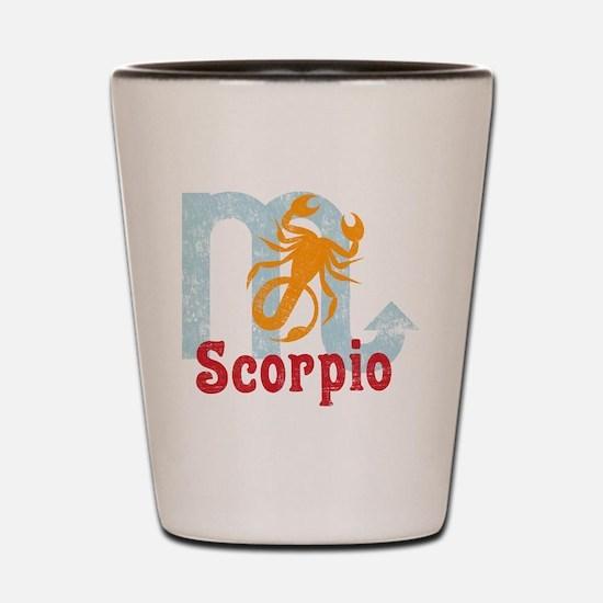 Scorpio Zodiac Vintage Shot Glass