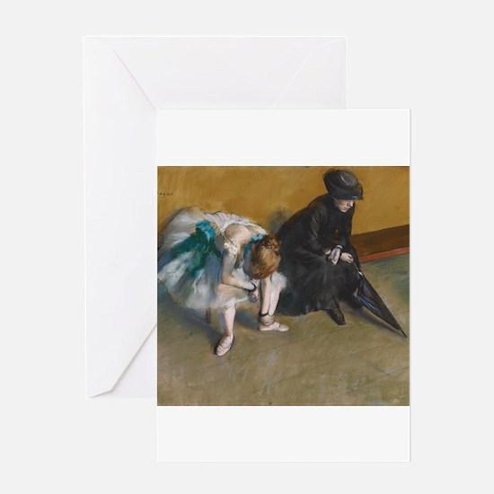 Degas Waiting Greeting Cards