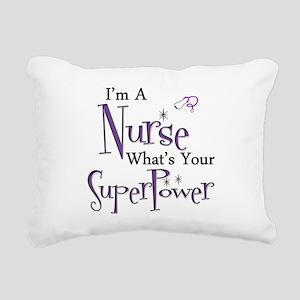 Super nurse copy Rectangular Canvas Pillow