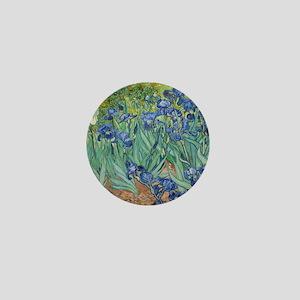 Van Gogh Irises Mini Button