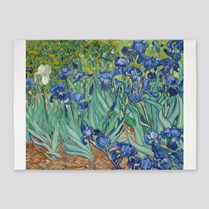 Van Gogh Irises 5'x7'Area Rug