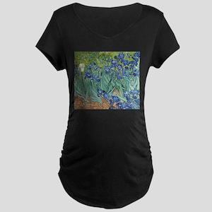 Van Gogh Irises Maternity T-Shirt