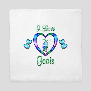 I Love Goats Queen Duvet