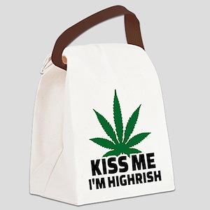 Kiss me I'm highrish Canvas Lunch Bag