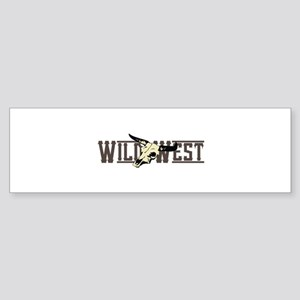 WILD WEST Bumper Sticker