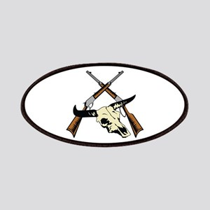 STEER SKULL AND RIFLES Patches